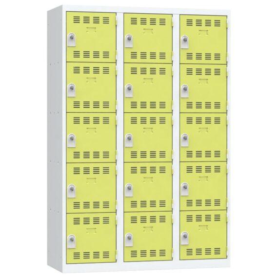 Vestiaire 5 cases 3 colonnes Largeur 400 couleur Anis