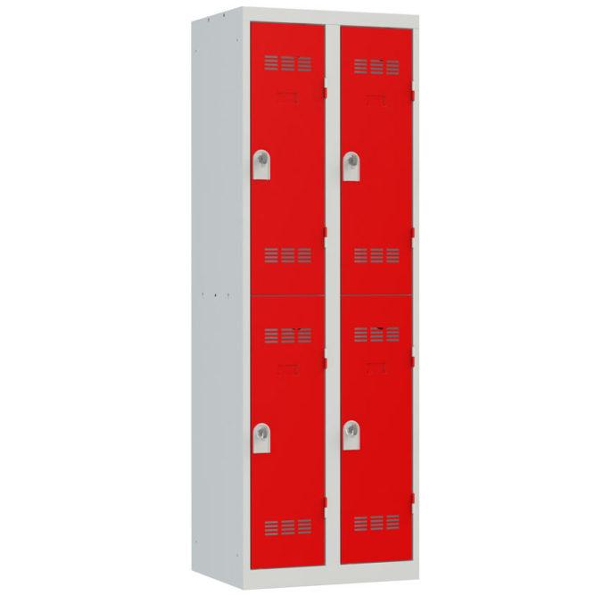 Vestiaire sport 4 cases Largeur 300 coloris Rouge
