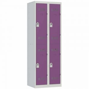 Vestiaire sport 4 cases Largeur 600 coloris Prune