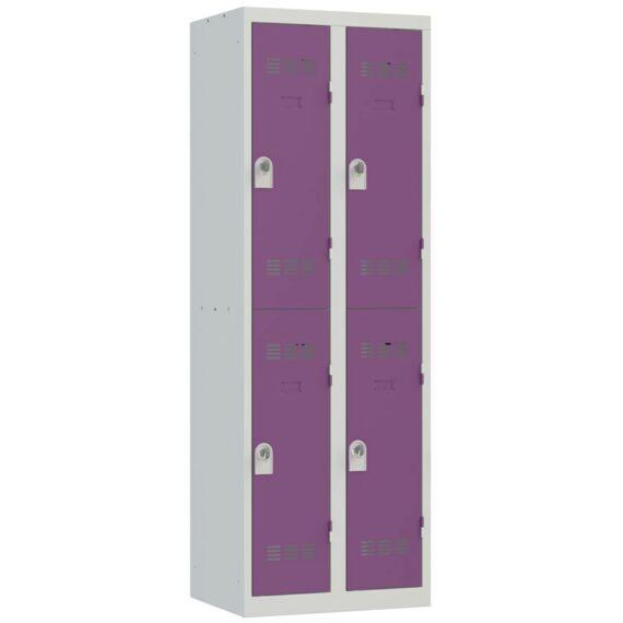 Vestiaire sport 4 cases Largeur 600 coloris Prune