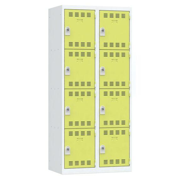 Vestiaire 4 cases 2 colonnes Largeur 400 coloris Anis