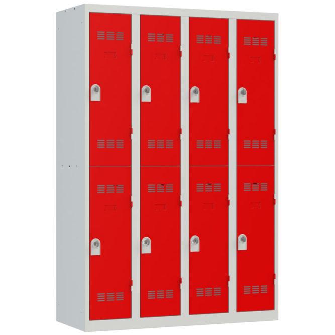 Vestiaire sport 8 cases Largeur 300 coloris Rouge