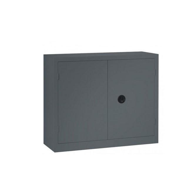 Une armoire à portes battantes anthracite 100 x 120