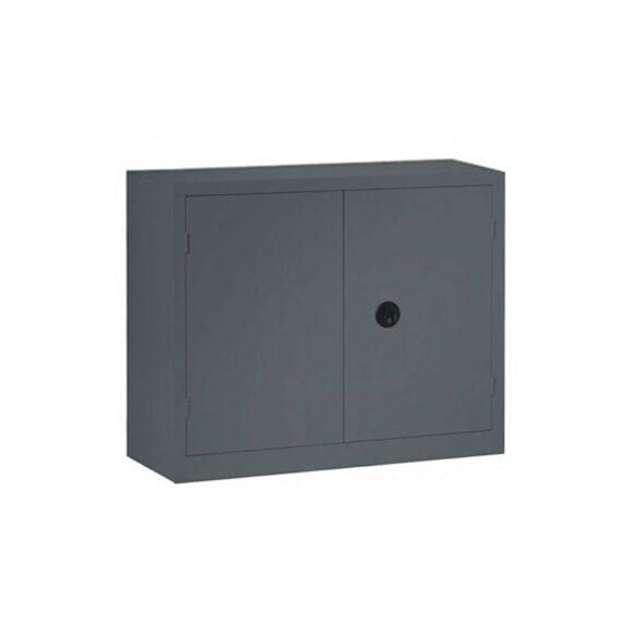 Une armoire basse à portes battantes grande profondeur coloris anthracite