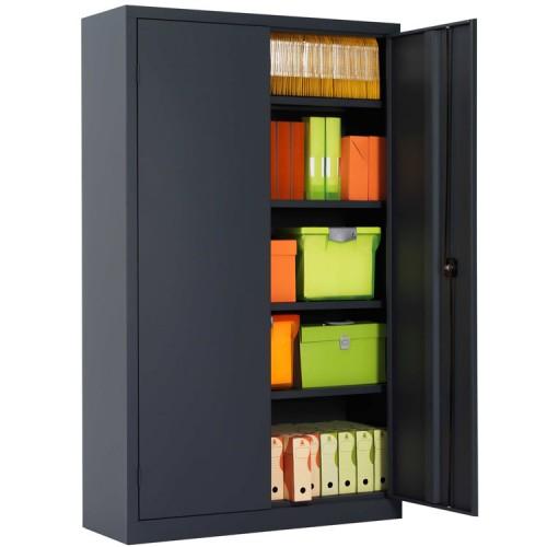 Armoire de bureau m tallique pour rangement armoire plus for Transformer une armoire en bureau