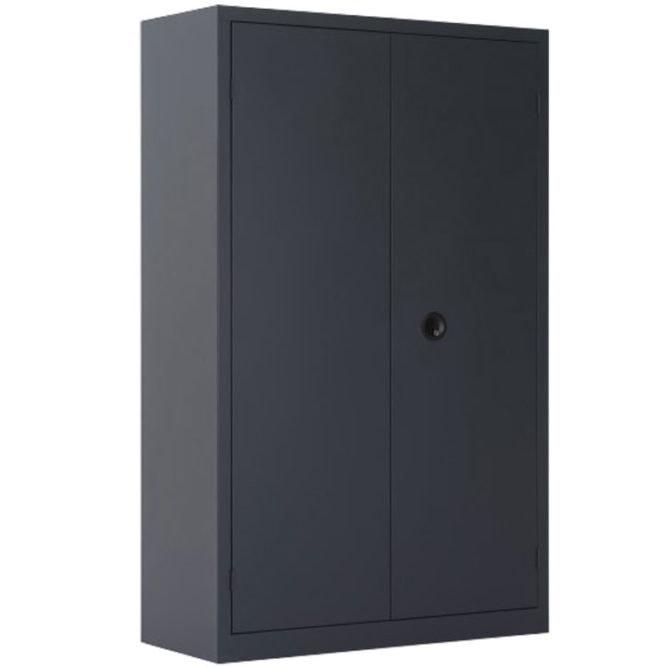 Une armoire haute à portes battantes grande profondeur coloris anthracite