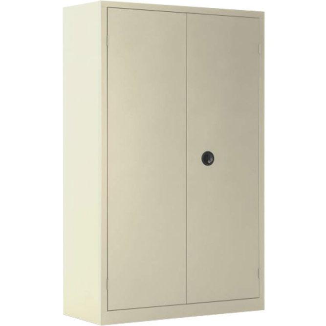 Une armoire haute à portes battantes grande profondeur coloris beige