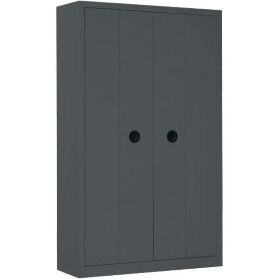 Une armoire haute à portes pliantes coloris Anthracite
