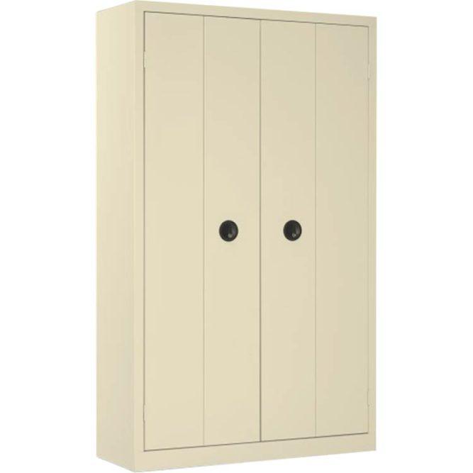 Une armoire de bureau à portes pliantes coloris Beige