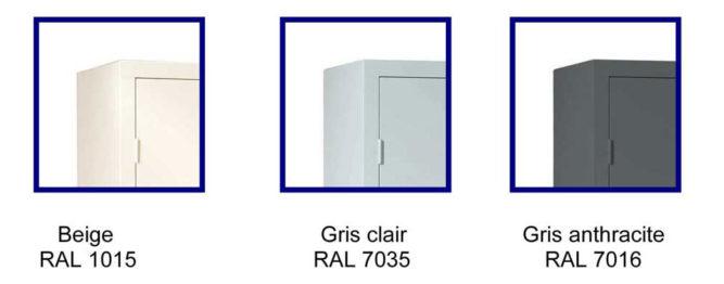 Armoire de bureau portes battantes h180 l090 armoire plus - Porte de douche 180 cm ...