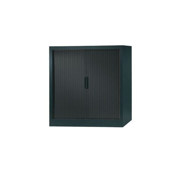armoire a rideaux 100x100 anthracite