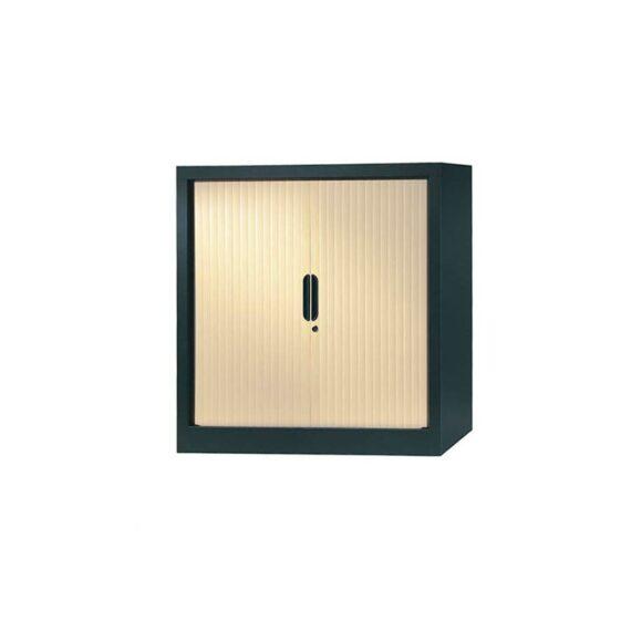 armoire a rideaux 100x100 anthracite erable