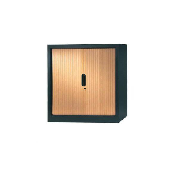 armoire a rideaux 100x100 anthracite pommier