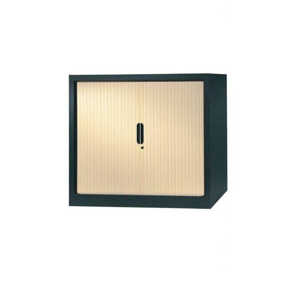 armoire a rideaux 100x120 anthracite erable