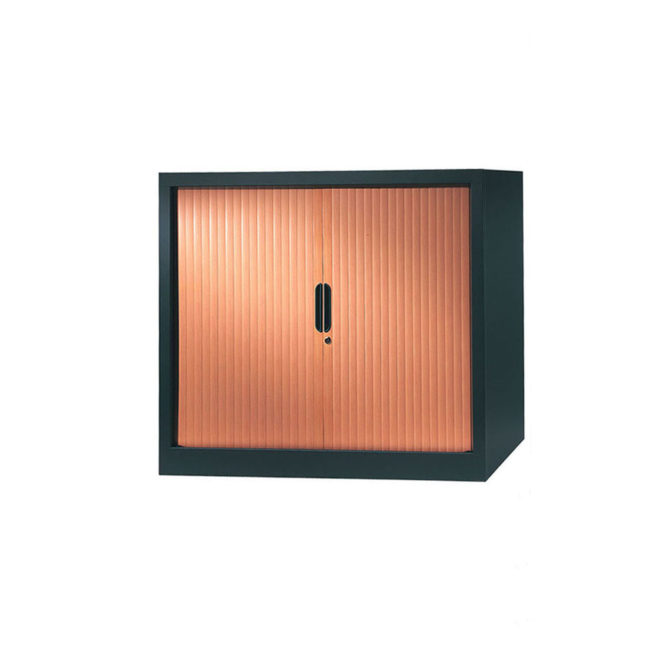 armoire a rideaux 100x120 anthracite merisier