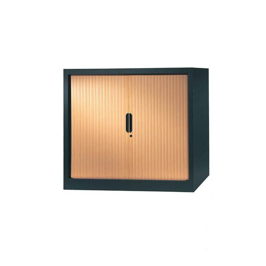 armoire a rideaux 100x120 anthracite pommier