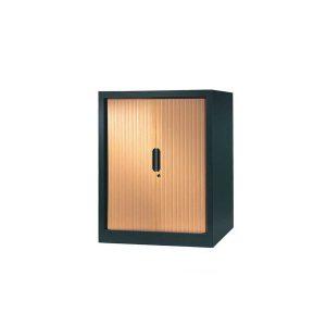 armoire a rideaux 100x80 anthracite erable