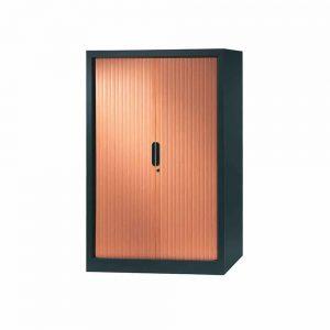 armoire a rideaux 136x100 anthracite erable