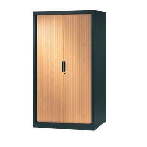 armoire a rideaux 160x100 anthracite pommier