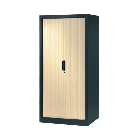 armoire a rideaux 160x80 anthracite erable