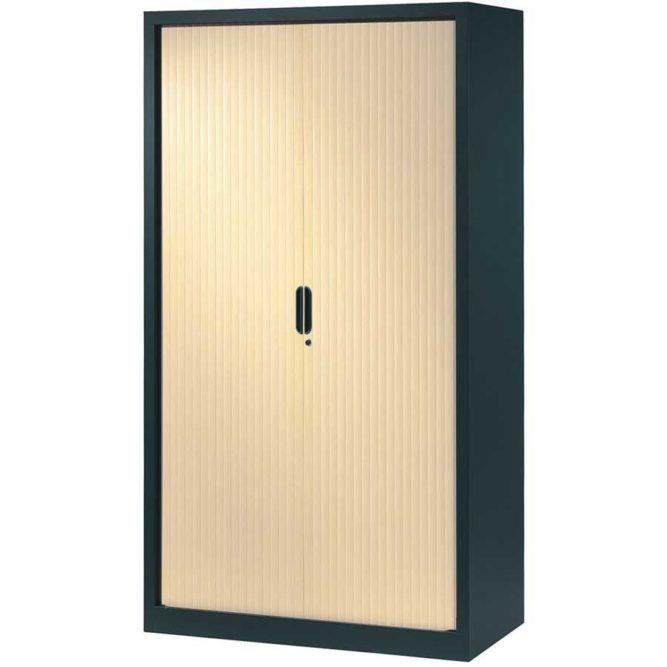 armoire-rideaux-design-198-120-anthracite-erable