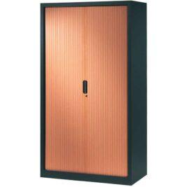 armoire-rideaux-design-198-120-anthracite-merisier