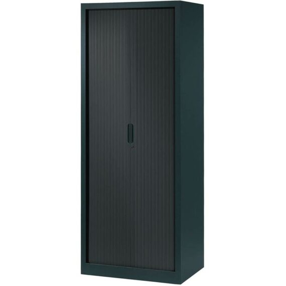 armoire a rideaux 198x80 anthracite