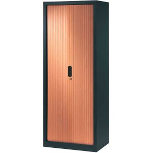 armoire-rideaux-design-198-80-anthracite-merisier