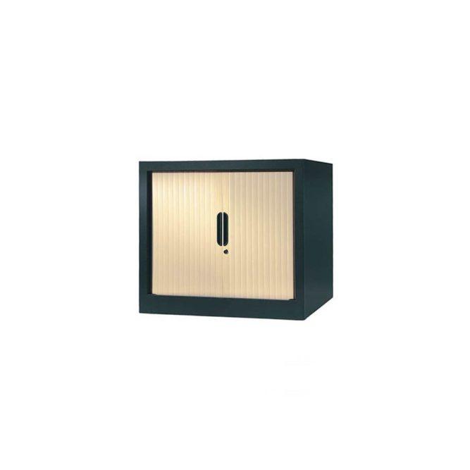 armoire a rideaux 65x80 anthracite erable