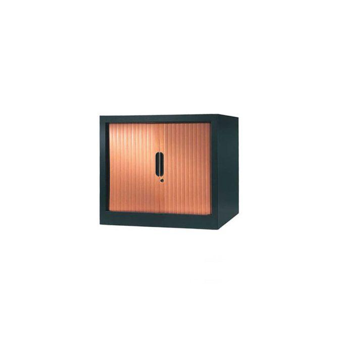 armoire a rideaux 65x80 anthracite merisier
