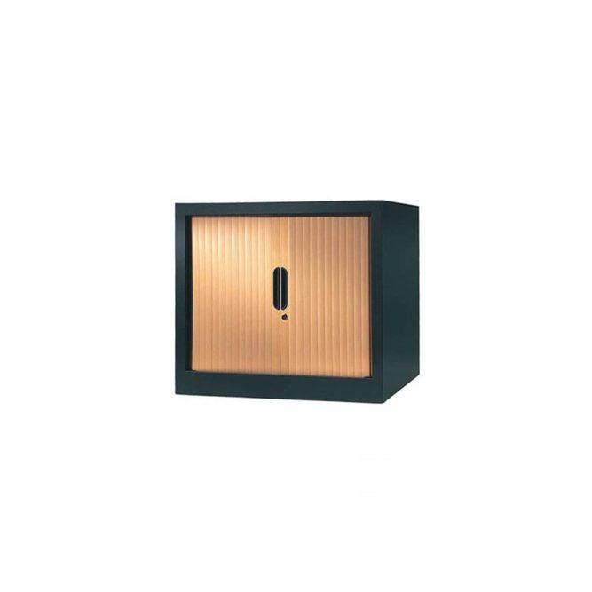 armoire a rideaux 65x80 anthracite pommier