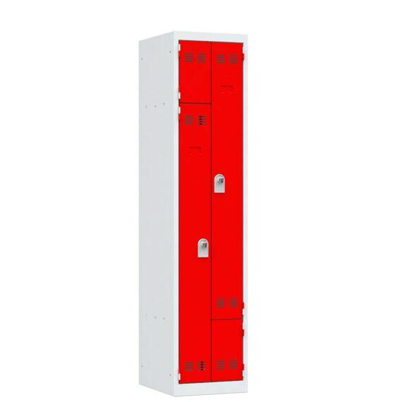 Vestiaire en l rouge 2 cases