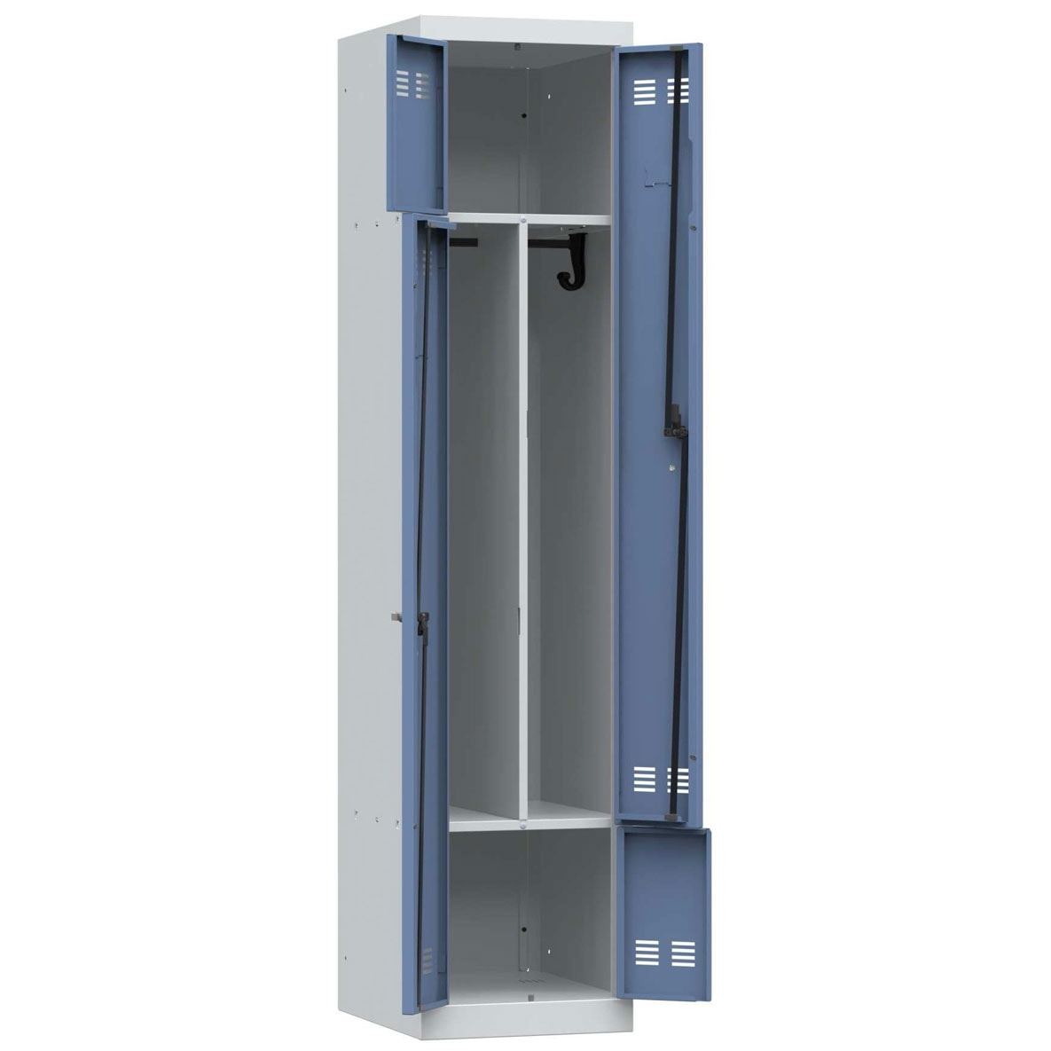 Vestiaires portes l 2 cases armoire plus for Armoire metallique 2 portes