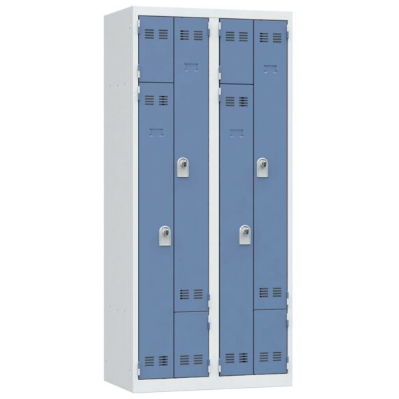 vestiaire gain de place bleu 4 cases