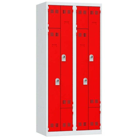Vestiaire gain de place rouge 4 cases
