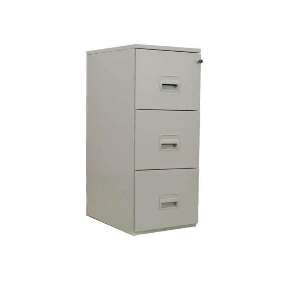 classeur 3 tiroirs gris clair fermés