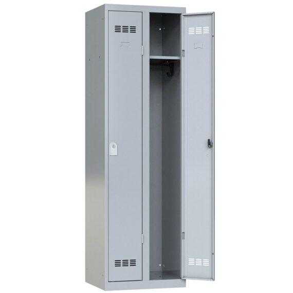vestiaire de bureau aluminium 2 cases