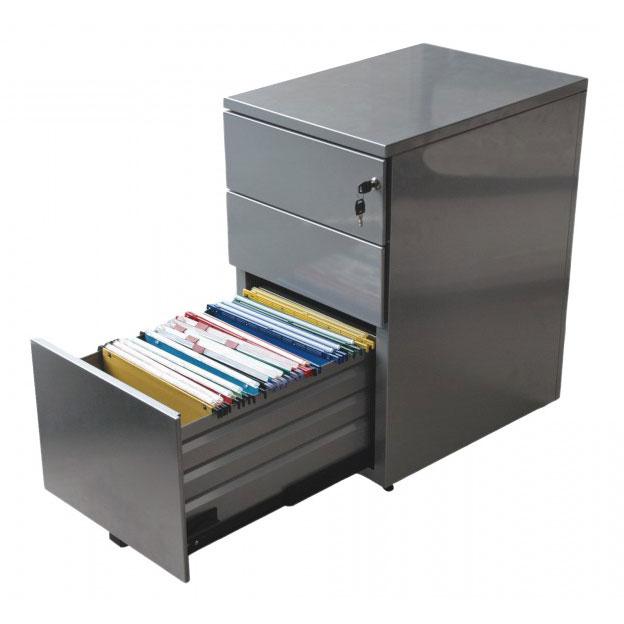caissons de bureau avec 3 tiroirs dont un ouvert