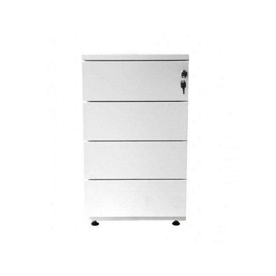 caissons de bureau blanc 4 tiroirs