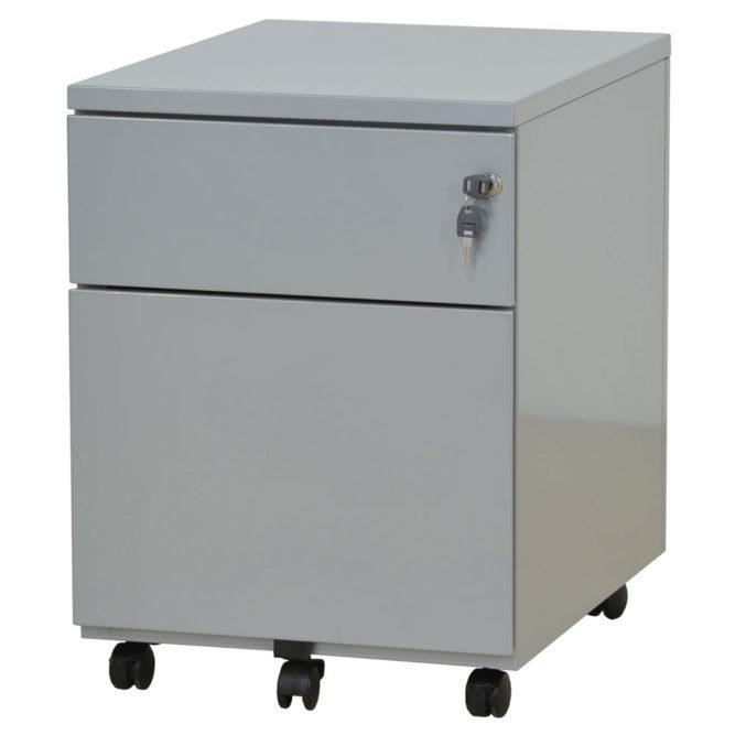 caisson-mobile-2-tiroirs-gris-clair