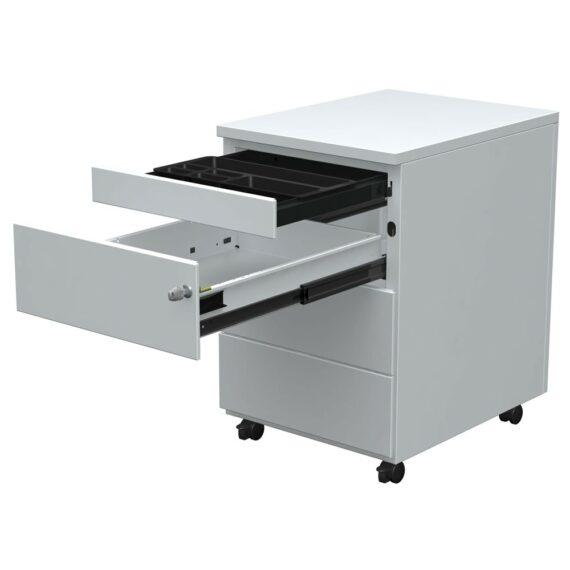 caisson-mobile-3-tiroirs-ouvert-gris-tirette-plumier