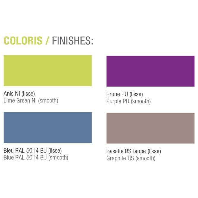 coloris et finitions pour caissons