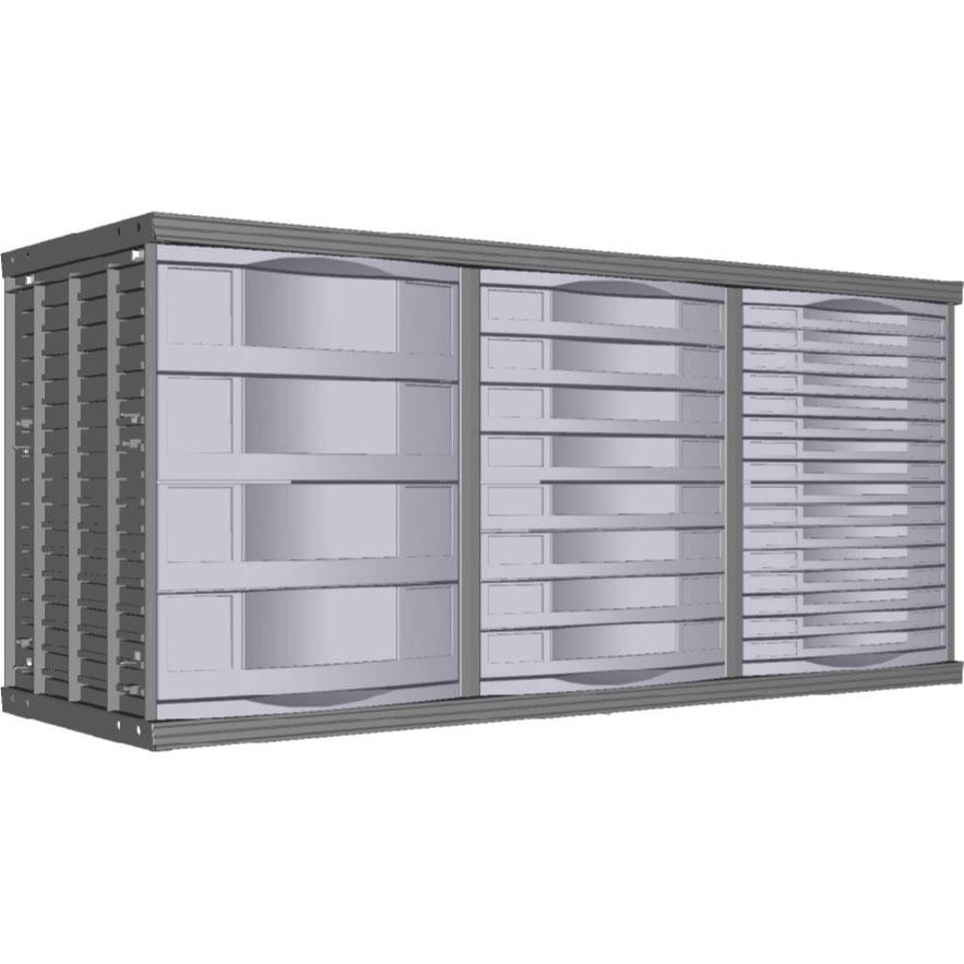 Module sd tiroirs armoire plus for Armoire a tiroirs de bureau