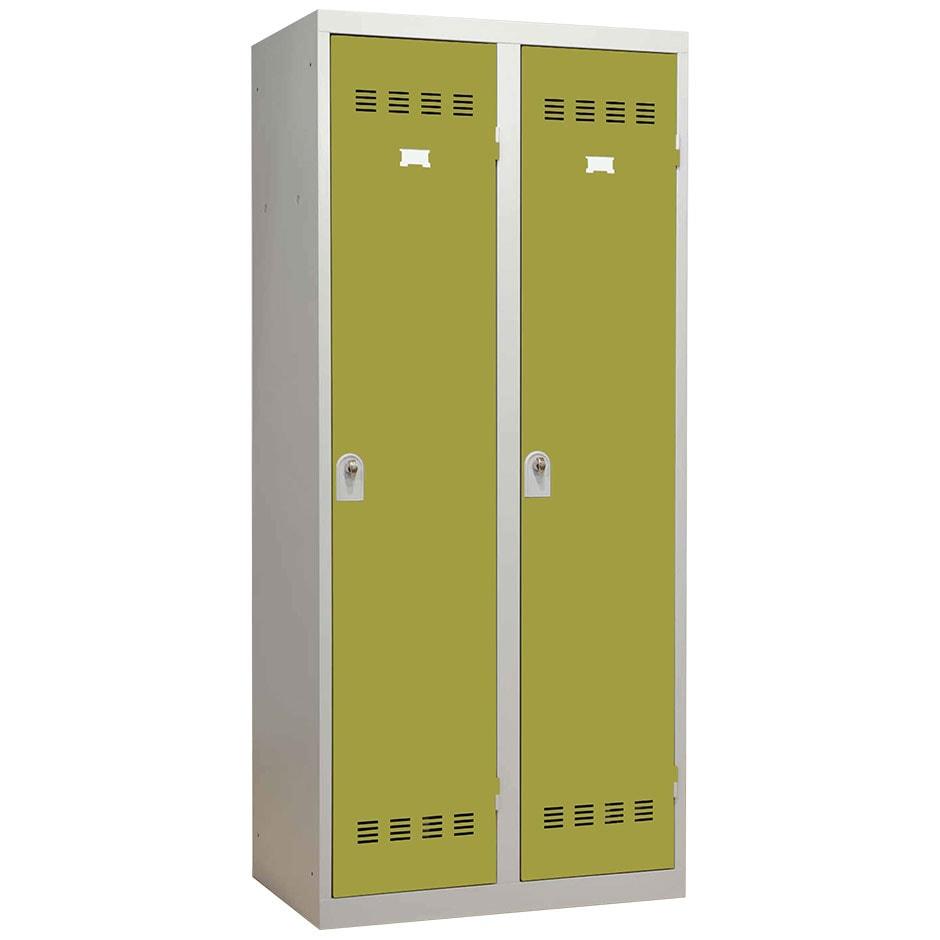 vestiaire 2 portes industrie propre 80cm armoire plus. Black Bedroom Furniture Sets. Home Design Ideas