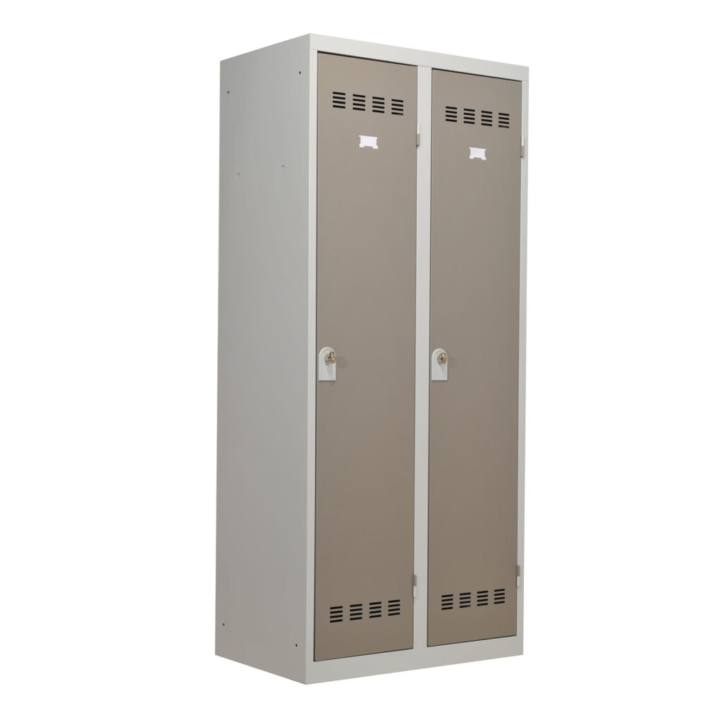 vestiaire 2 portes industrie propre 80cm armoire plus. Black Bedroom Furniture Sets. Home Design Ideas