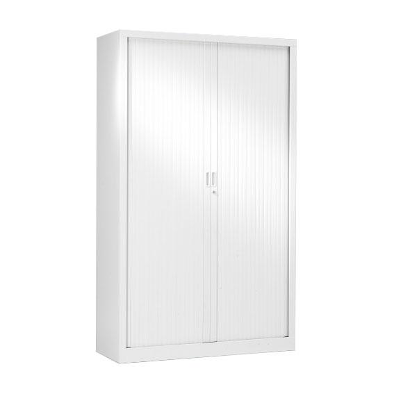 armoire a rideaux blanche 198x120