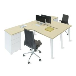bureau bench asymetrique erable