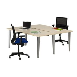 Bureau bench droit 180x180 erable
