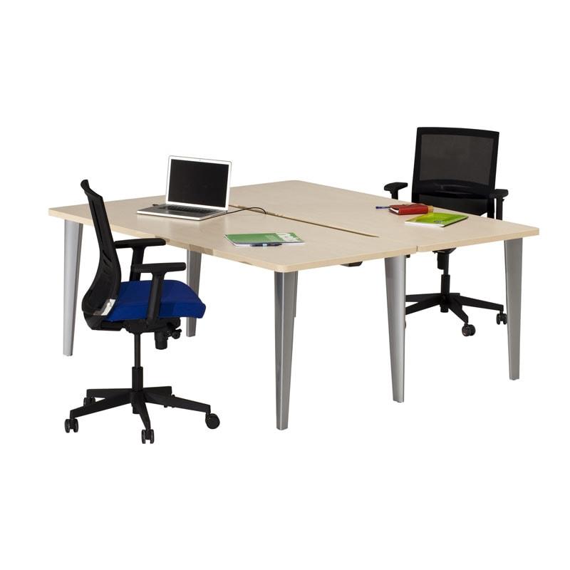 Bureau bench droit 180x180 erable