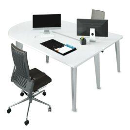 bureau bench droit blanc